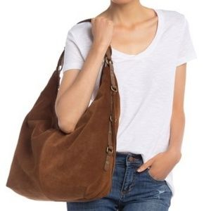 New Lucky Brand Jill Leather Hobo Shoulder Bag